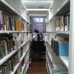 Библиотечные стеллажи с межрядными планками