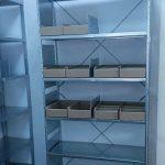 Архивные стеллажи с картонными лотками