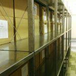 Архивные стеллажи с грузом