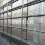 Задняя сетчатая панель на складских стеллажах